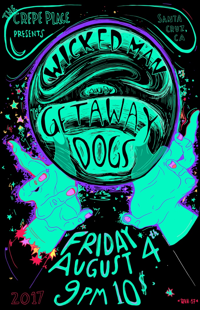 wicked man getaway dogs poster traced
